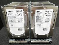 "XX518 0XX518 (LOT of 10) Dell 146GB 15K RPM 3Gbps 3.5"" SAS Hard Drive W/Caddy"