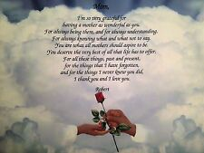 Personalized Art Print with Mom Poem-8x10 Mom and Son Hands-Home Decor-New