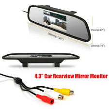 "4.3"" LCD 2-way Input Car SUV Rearview Mirror Monitor For Camera/DVD/VCD Player"