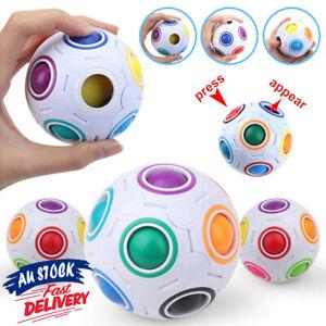 Educational Speed Intelligence Toy Puzzle Magic Cube Rainbow Ball Twist Gift Kit