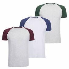 Brave Soul Cotton Blend Patternless Basic T-Shirts for Men
