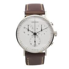 Georg Jensen Koppel 317 Chronograph Gents Watch Quartz White Dial 38mm