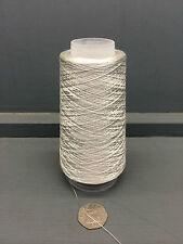 100g silber grau 2/80NM 100% sehr fein Seide Garn silber