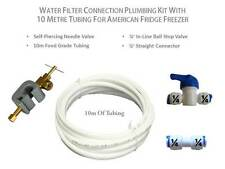 Water Filter Connection Plumbing Kit with 10m Tubing for American Fridge Freezer