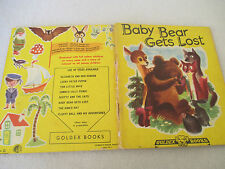 BABY BEAR GETS LOST vintage 1950s Goldex Books GOLDEN TREASURE HOUR BOOKS