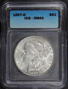 1897-O Morgan Silver Dollar ICG MS-60