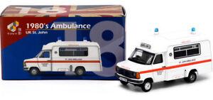1:76 Scale Tiny City ATC64874 - 1980's Ford Transit Ambulance - St. Johns - BNIB