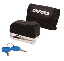 Oxford Screamer Disc Lock Motorcycle Alarm Silver Scooter Bike