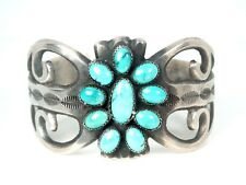 Albert James Brown Navajo Native American Sterling Turquoise Cuff Bracelet