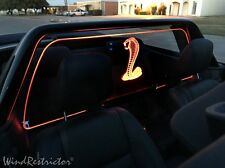 NEW Ford Mustang 05-14 WIND RESTRICTOR windblock LED Lighted Accessory screen