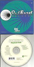 DOMINO Physical Funk 3TRX w/ RARE INSTRUMENTAL USA LIMITED CD single 1996