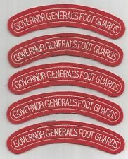 LOT OF 5 CANADA GOVERNOR GENERAL'S FOOT GUARDS SHOULDER TABS/ PATCHES(M/P 2169)