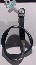 Maurices Black Rhinestone Belt Bling Silver Buckle-Med-NEW