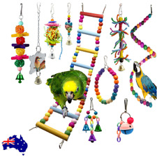 10X Parrot Hanging Swing Bird Cage Toys Parakeet Cockatiel Budgie Toy Harness
