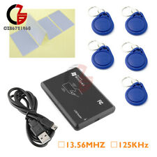 13.56MHz/125KHz USB RFID Smart IC/ID Card Reader Key Tag NFC Read Write EM4100