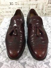 Allen Edmonds Berwick Wingtip Tassel Loafers Burgundy Leather Mens 11 D
