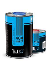 T4w 404 acrílico barniz transparente Matt 2:1 set: 1,0 litros de barniz transparente + 0,5 litros más duro