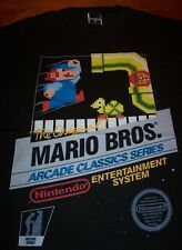 VINTAGE STYLE ORIGINAL MARIO BROS NES BOX Nintendo T-Shirt ARCADE MEDIUM NEW