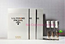 3 La Femme Prada Eau de Parfum sample spray vial 3 x 1.5 ml for Women