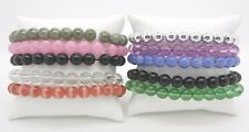 "Bracelets~10 Different Colors~Stretchy~Size 7"" Wrist Set of 10 Fashion Bead"