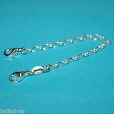 """6 pieces Sterling Silver 925 4"""" Safety CHAIN EXTENDERS with 2 Lobster Clasps Lot"""