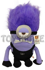 "DESPICABLE ME 2 PLUSH! LARGE ONE EYED EVIL MINION PURPLE SOFT DOLL 24"" LIFE SIZE"