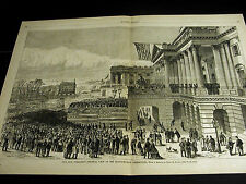 Theo R. Davis PRES. HAYES INAUGURATION White House w STORY 1877 Large Print