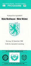 DDR-Liga 82/83 BSG Motor Weimar-BSG Motor Nordhausen, 12.09.1982