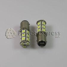 2 x Bombillas 18 LED SMD BAY15D Coche Freno, DRL, Posicion Bombilla Blanco Xenon