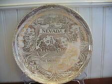 THE SAGEBRUSH STATE! Vintage Porcelain Nevada State Plate