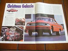 1963 FORD GALAXIE ***ORIGINAL ARTICLE*** RACE CAR