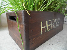 Window Box For Herbs , Herb Planter , Herb Pots, Hand Made Wooden Planter