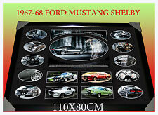 NEW!! 1967-68 FORD MUSTANG SHELBY CLASSICS Memorablia FRAME LIMITED EDITION