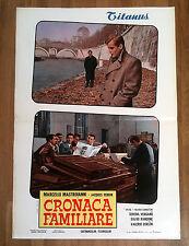 CRONACA FAMILIARE fotobusta poster Marcello Mastorianni Zurlini Roma Tevere BV25