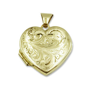 Pre-owned Heart Shaped Gold Locket 9ct