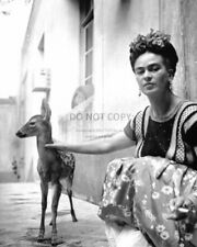 MEXICAN PAINTER FRIDA KAHLO AND PET DEER GRANIZO - 8X10 PHOTO (FB-968)