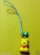 Sale! Cute Disney Winnie The Pooh Bear Key Chain With Bell, Handphone Accessory