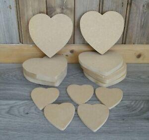 hearts shapes rustic hearts craft job lot x13