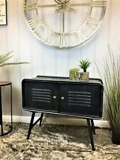 Industrial retro urban grey metal Low sideboard Cupboard unit cabinet storage