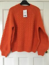 womens cable jumper from Next in orange size M BNWT