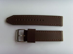 Fossil Original Spare Leather Strap CH2835 Watch Band Braun 22 MM Brown