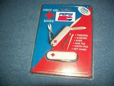 """Vintage Pepsi First Aid Mini Pocket Knife With Red Cross Logo 2 1/4"""""""