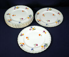 """Vintage Grindley China The Primula 8 Dinner Plates 10"""" Excellent Condition"""