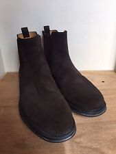 GEOX Respira Brown Suede Slip On Ankle Boots Men's US Sz 12.5 / EU 46 Shoes