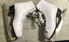 American Girls Ice Skates Tricot Lined White Sz 4 Athletic Stainless Blade Shoe