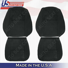For 2007 2008 GMC Sierra 1500 2500HD 3500HD Front SET Cloth Seat Cover Black