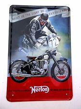 NORTON ES2  MOTORCYCLE  METAL TIN SIGNS vintage cafe pub bar garage decor chic