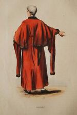 ANGLETERRE GRAVURE COULEURS ALDERMAN ECHEVIN COSTUME WHALEN 1843 R1574