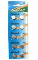 10 X EUNICELL AG13 LR44 SR44 L1154 A76 1.5V ALKALINE BUTTON/COIN CELLS BATTERIES