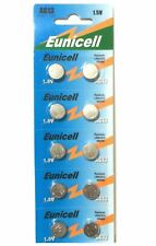 10 X EUNICELL AG13 LR44 SR44 L1154 A76 1.5V ALKALINE BUTTON/COIN CELLS BATTERIES
